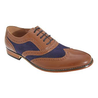Goor Mens 5 Eye Brogue Oxford Shoes