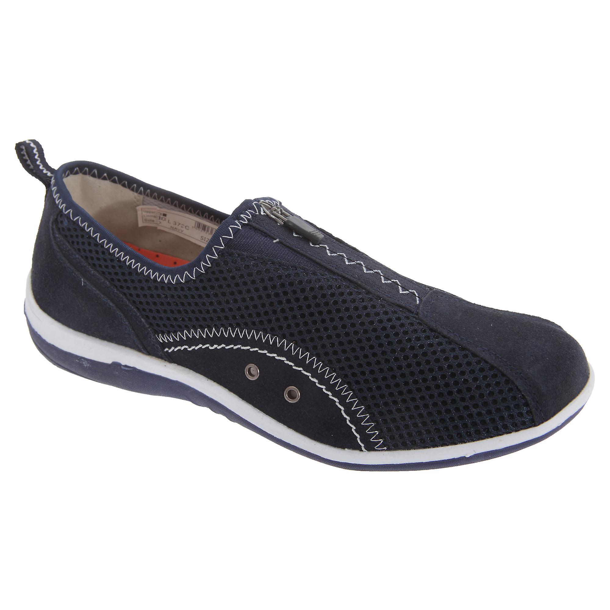 Boulevard Womens/ladies Zip Elastic Gusset Leisure Shoes