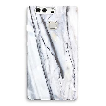 Huawei P9 fuld udskrive sag - stribet marmor