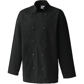 Premier Mens Long Sleeved kanvas werkkleding Uniform Chef jas