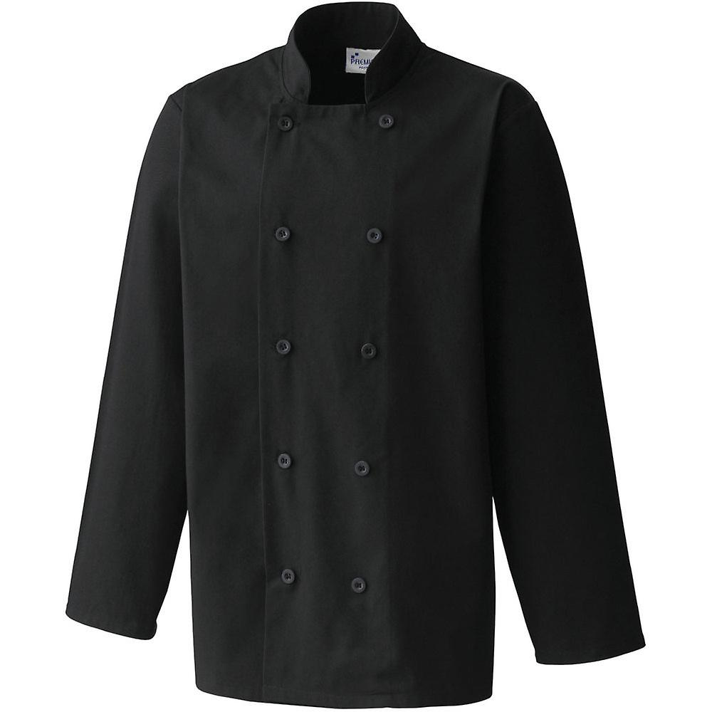 Premier Mens Long Sleeved Polycotton Workwear Uniform Chef Jacket