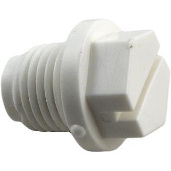 """Praher E-15-S1 1.5"""" x 2"""" Top/Side Mount Valves Plug - White"""