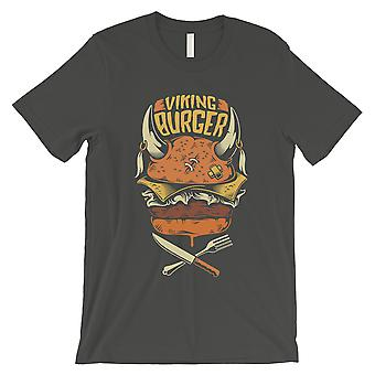 Viking Burger Mens Cool gris Unique col rond Graphic T-Shirt cadeau