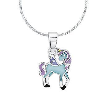 Unicorno di Principessa Lillifee bambino bambini collana argento blu 2013161