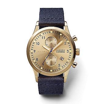 Triwa Unisex Watch wristwatch LCST103-CL060713 gold Lansen Chrono leather