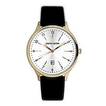 Pierre Cardin mens watch wristwatch LES HALLES leather PC902131F03