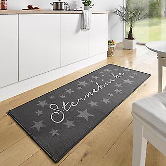 Conception daim runner étoiles cuisine grise 67 x 180 cm | 102369