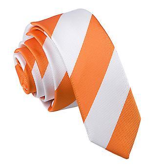 Orange & weiß gestreiften schmaler Krawatte