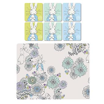 Stow Green Contemporary Peter Rabbit Placemats and Coasters