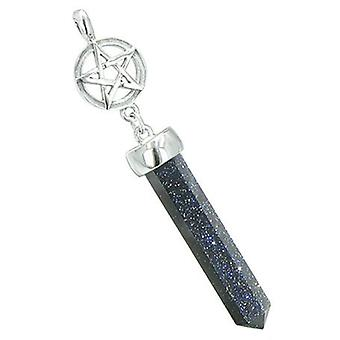 Magic energi krefter Stjernen pentagram sirkel Pentagram Amulet krystall punkt sjarm Goldstone anheng