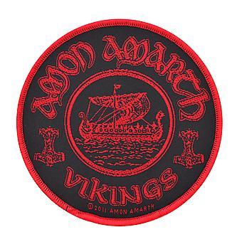 Amon Amarth Vikings Circular Woven Patch