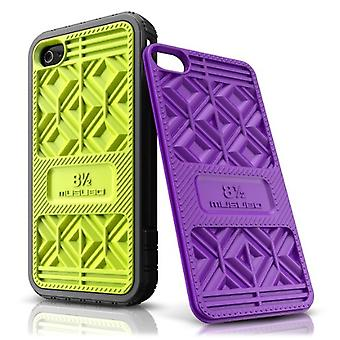 5 Pack -Musubo Sneaker Case for Apple iPhone 4/4S- Lime & Purple