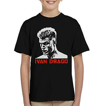 Ivan Drago Movie Poster Rocky IV Kid's T-Shirt