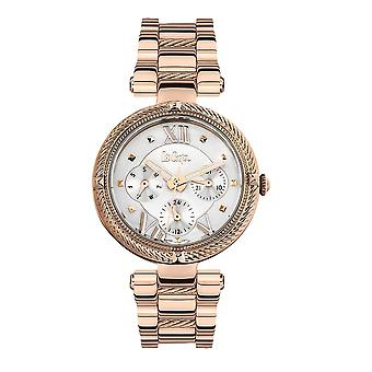 Lee Cooper Women's Watch and Silver Metal and Rose Gold Bracelet 7881