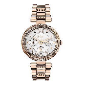 Lee Cooper Women's Watch e Silver Metal e Rose Gold Bracelet 7881
