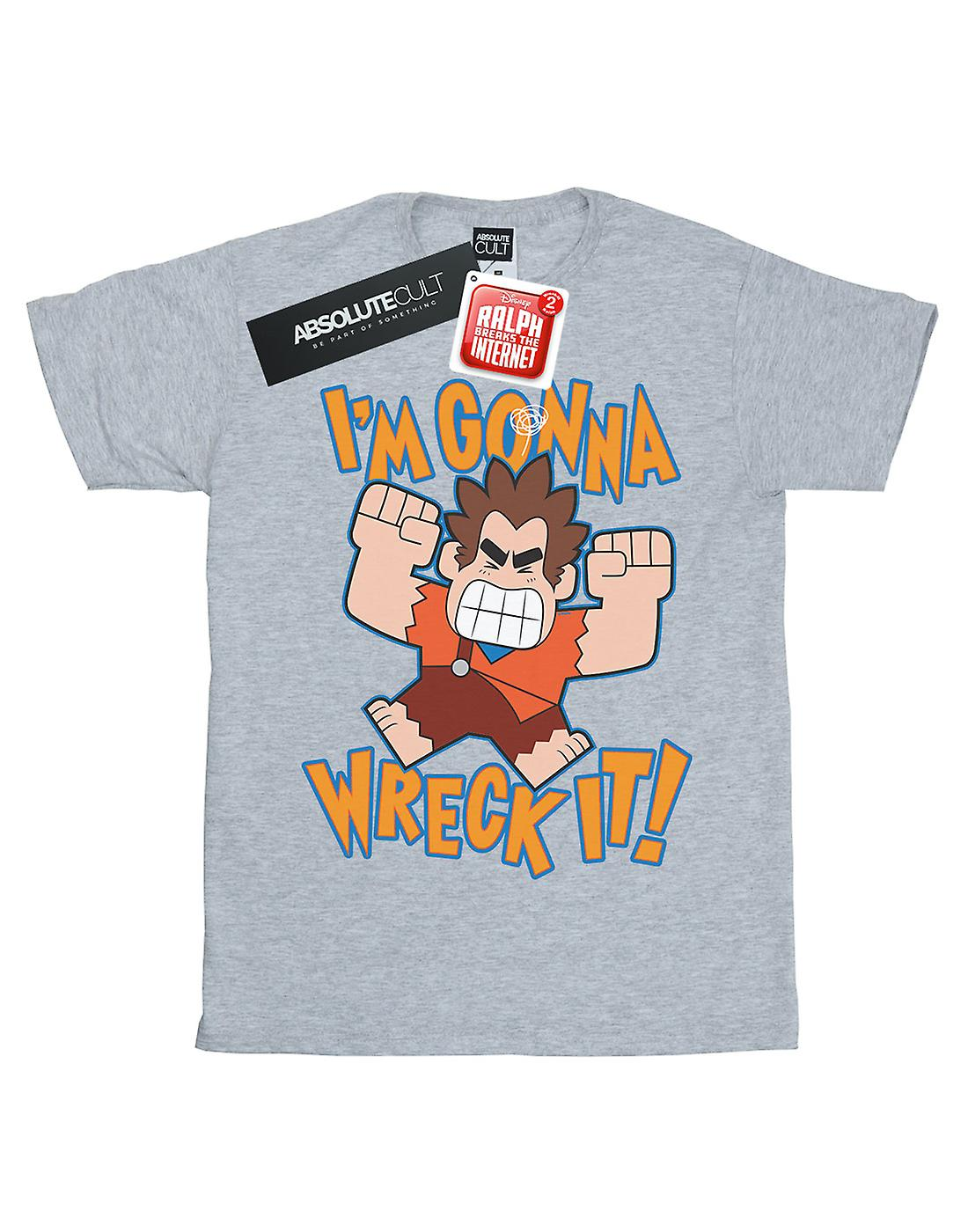 Disney Women's Wreck It Ralph I'm Gonna Wreck It Boyfriend Fit T-Shirt