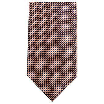 Knightsbridge Krawatte kleine Muster Krawatte - Orange/Schwarz