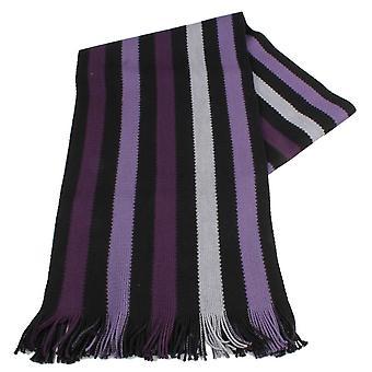 Bassin en bruin Hornby Stripe sjaal - paars/zwart