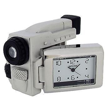 Gift Time Products Video Camera Mini Clock - Silver/Black