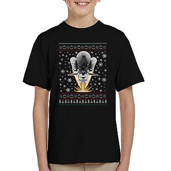 NASA Shuttle Launch Weihnachten Stricken Muster Kinder T-Shirt