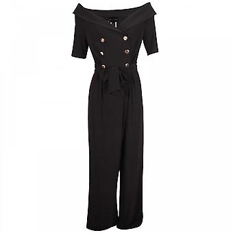 Frank Lyman Off schouder Double Breasted Jumpsuit
