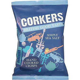 Corkers Sea Salt Crisps