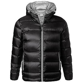 James and Nicholson Mens Hooded Down Jacket