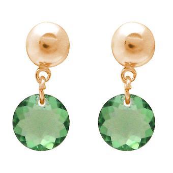 Gemshine kvinnors Örhängen med SWAROVSKI element. 925 silver eller guldpläterad-grön