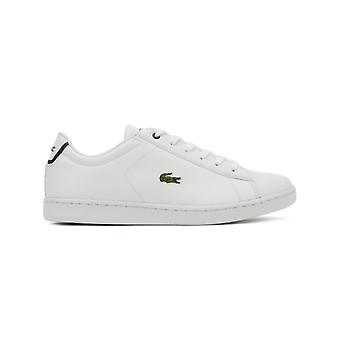 Lacoste Carnaby EVO BL 1 Junior Wit / Navy Trainers