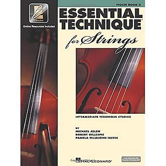 Essentiële techniek voor snaren (essentiële elementen boek 3): viool