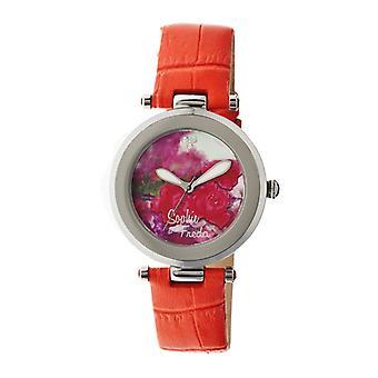 Sophie & Freda Butchart Leather-Band Ladies Watch - Orange