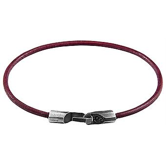 Anchor and Crew Talbot Round Leather Bracelet - Shadow Grey