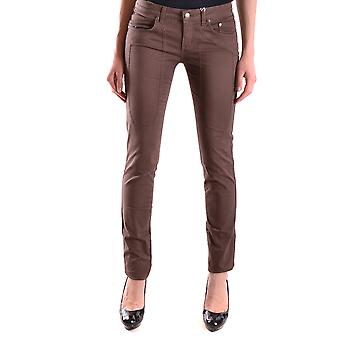 Jeckerson Ezbc069012 Women's Brown Cotton Jeans
