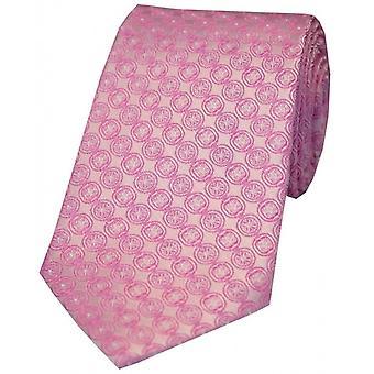 David Van Hagen chaîne circulaire Design cravate en soie - rose