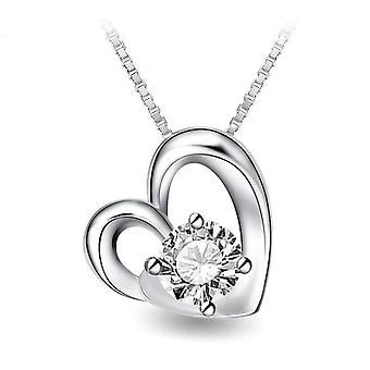 925 Sterling sølv hjerte til hjerte vedhæng halskæde