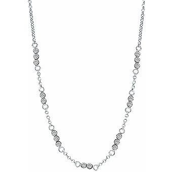 Bella Cubic Zirconia Chain Necklace - Silver