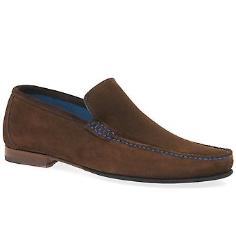 Loake Nicholson Mens Suede mocassin chaussures