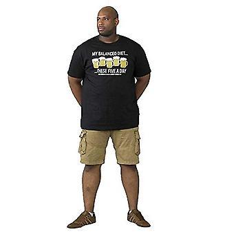 Hertug Herre Madison Kingsize-D555 afbalanceret kost Print Crew Neck T-Shirt