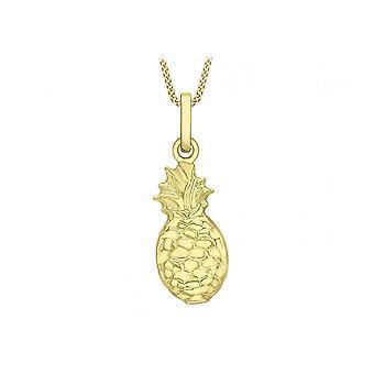 Evigheden 9ct guld ananas vedhæng og 16 ' ' kæde