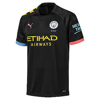 Puma Manchester City 2019/20 Mens Short Sleeve Away Football Shirt Black