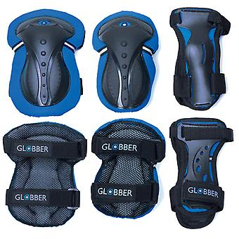 Junior Protective Pad Set (XXS) - Elbow Pads, Wrist Pads and Knee Pads - Blue -