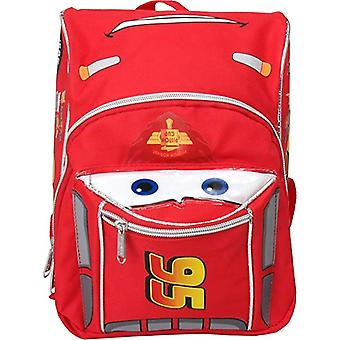 Mini Backpack - Disney - Cars McQueen Red/Silver Face New 001544