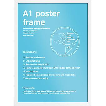 Eton valkoinen runko A1-juliste / tulostaa kehyksen