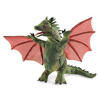 Hand Puppet - Folkmanis - Winged Dragon New Toys Soft Doll Plush 3051