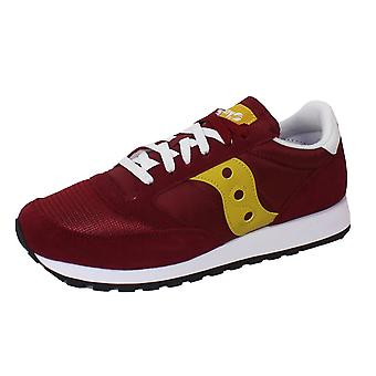 Saucony jazz original vintage men's maroon trainers