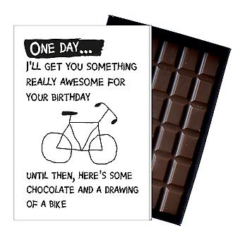 Funny Birthday Gift for Cyclist Mountain Bike Rider Boxed Chocolate Greeting Card OD141