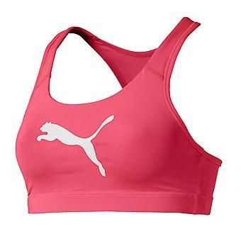 Puma 4Keeps Womens Ladies Mid Impact Fitness Sports Bra Pink