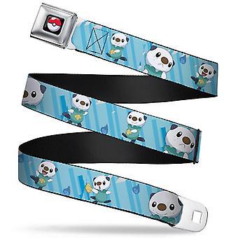 Seatbelt Belt - Pokemon - V.122 Adj 24-38' Mesh New pka-wpk020