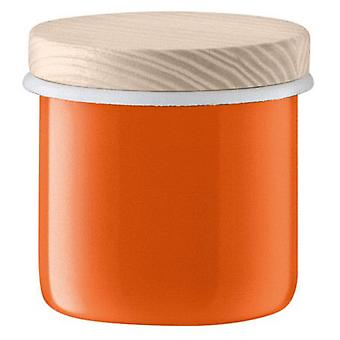 Lsa Utility Lid Container & Ash Ø9cm Pumpkin Orange *