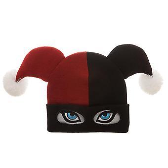 Chapéu de inverno Costume Harley Quinn máscara